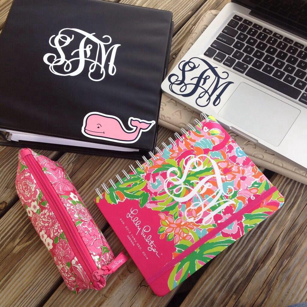 Best 25 monogram school supplies ideas on pinterest for Lilly d s craft supplies