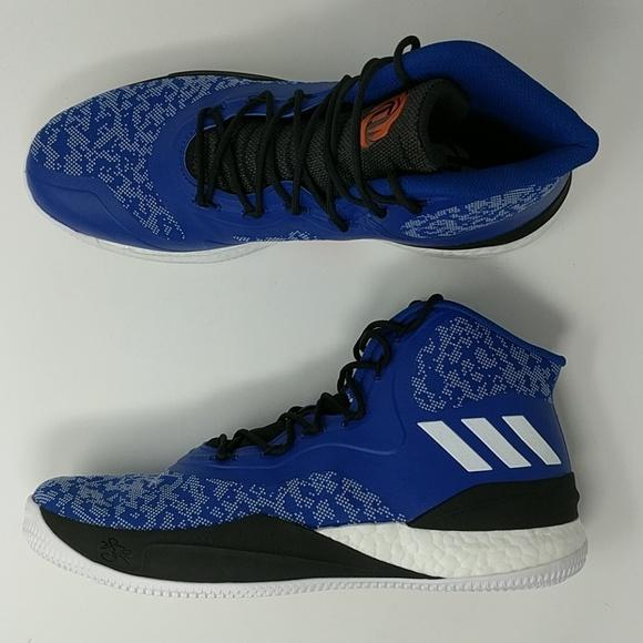 newest cbfec fa1c9 Adidas D Rose 8 VIII Derrick Rose Blue Black Men Basketball Shoe CQ082 –  LoneSole