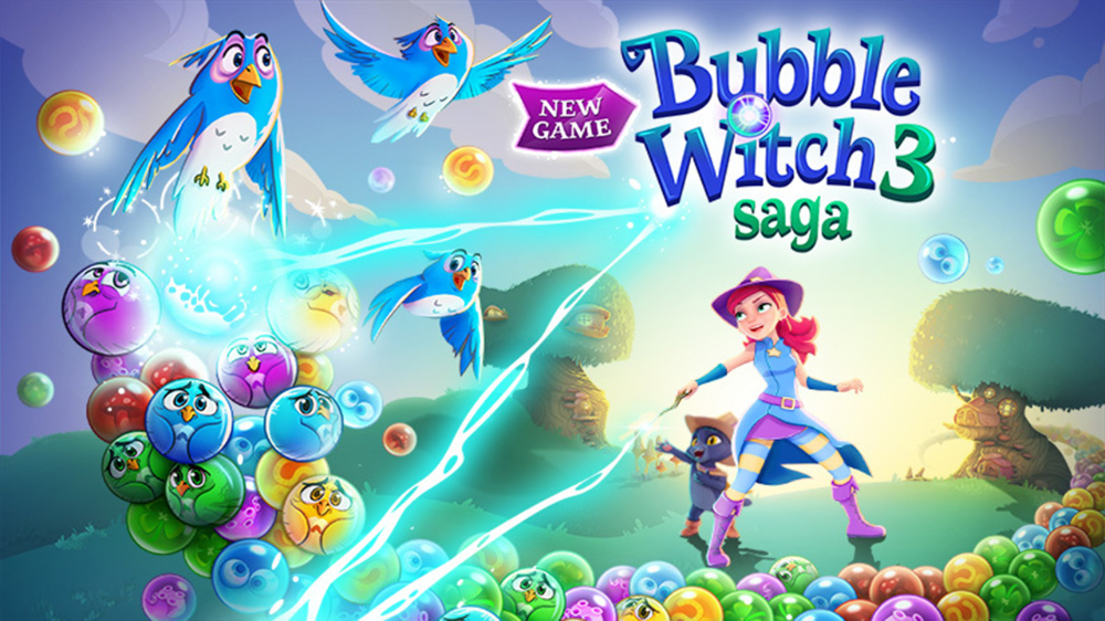 Bubble Witch 3 Saga Mod Apk 6 2 7 Download Free Games Bubble Games Game Cheats