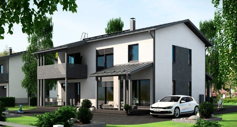 Talopaketti Moderni Puutalo Talopaketit Ja Talomallit Meilta House Design House Styles House