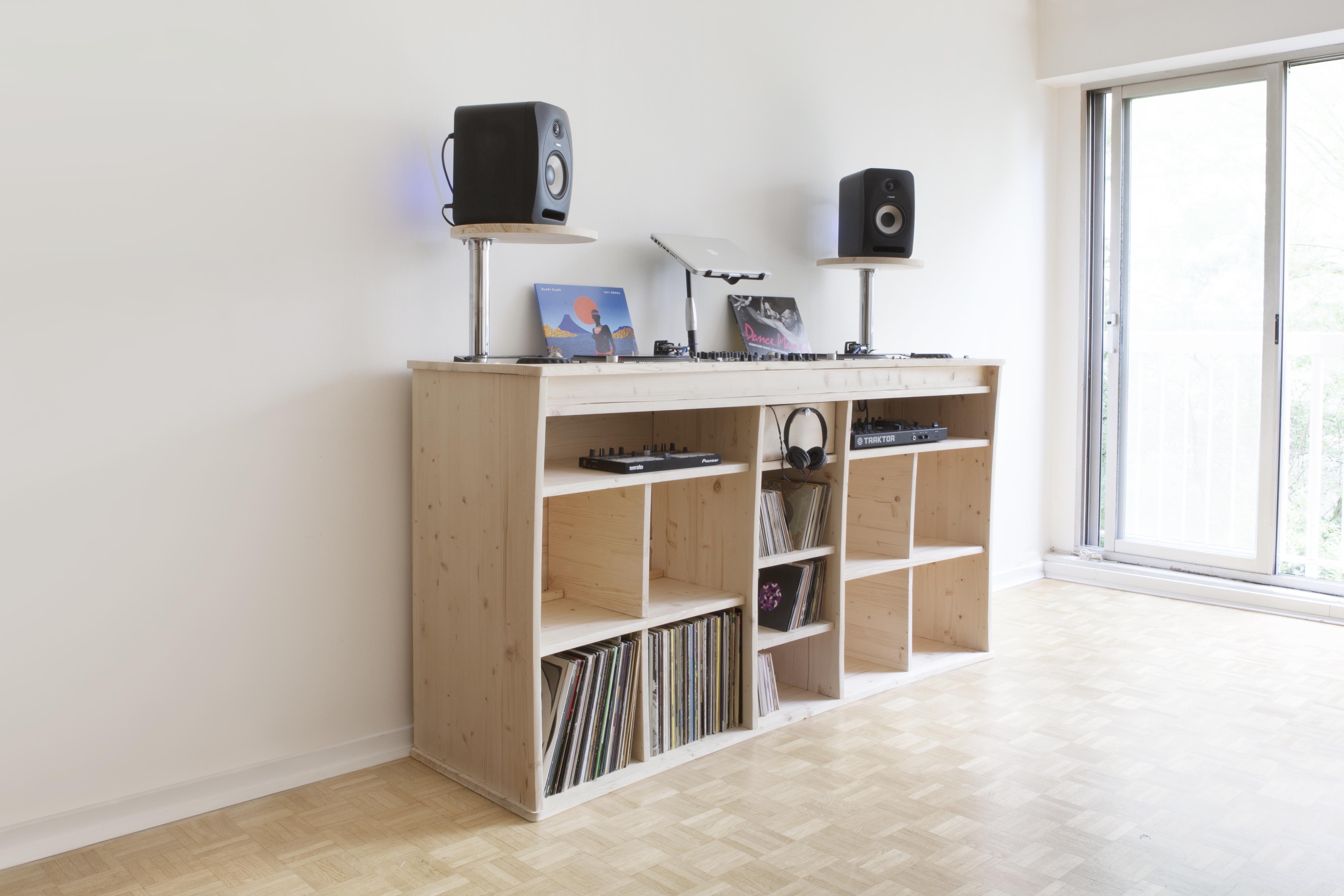 le b calling meuble pour dj et professionnels de la musique design dj musique bois vinyle. Black Bedroom Furniture Sets. Home Design Ideas