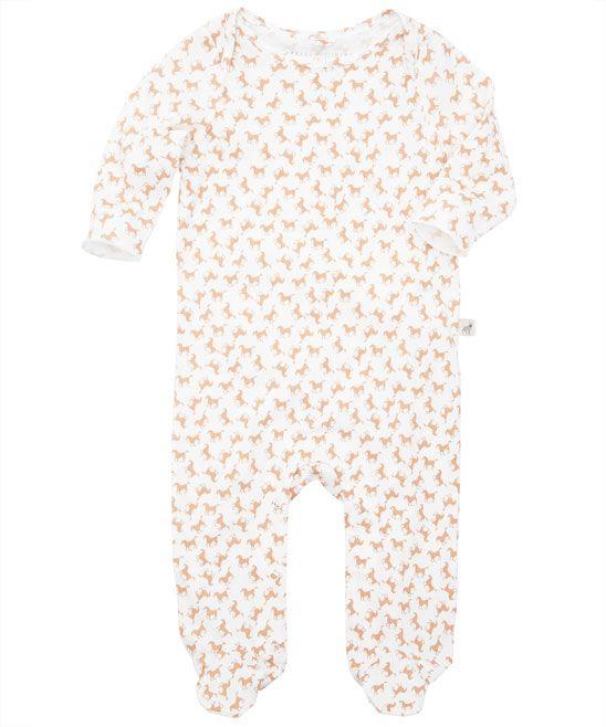 Baby Peach Horse Print Sleepsuit Stella Mccartney Kid S Shop The
