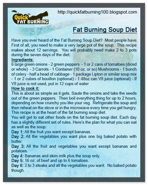 burning fat soup diet