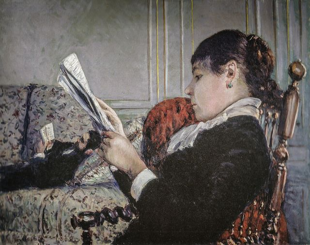 Gustave Caillebotte - Interior - a Woman Reading, 1880 (Private Collection)