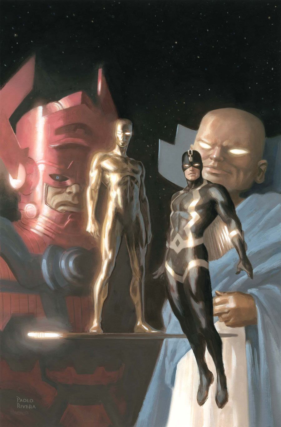 Fantastic Four (Galactus, Silver Surfer, Black Bolt & Watcher) by Paolo Rivera