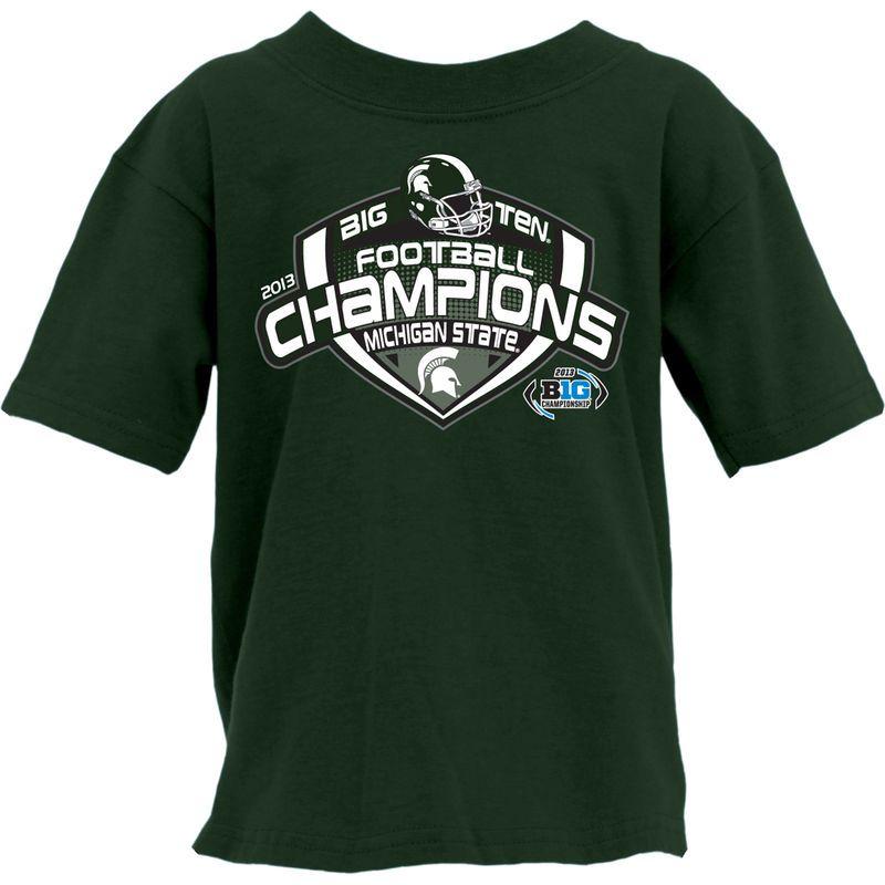 Michigan State Spartans 2013 Big Ten Football Champions Youth Locker Room T-Shirt - Green