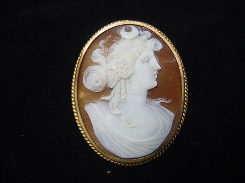 Victorian Cameo pin/pendant of the Goddess Artemis | eBay