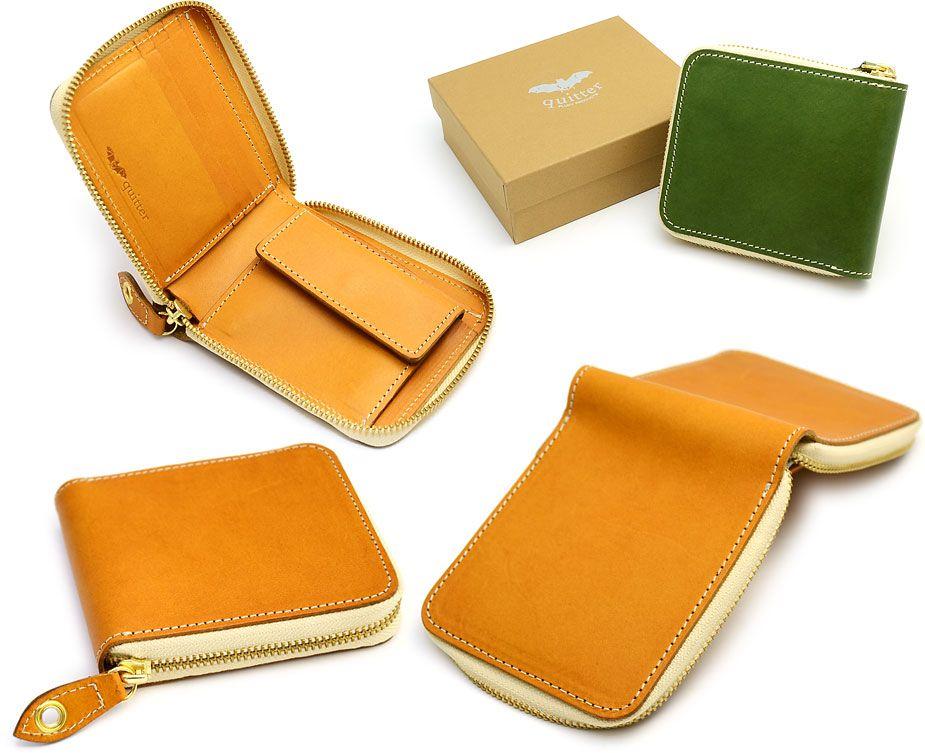 メンズ 二つ折り財布 ラウンドファスナー 本革製 牛革 小銭入れ :wks-qt132-ytsa:おさいふやさん - 通販 - Yahoo!ショッピング