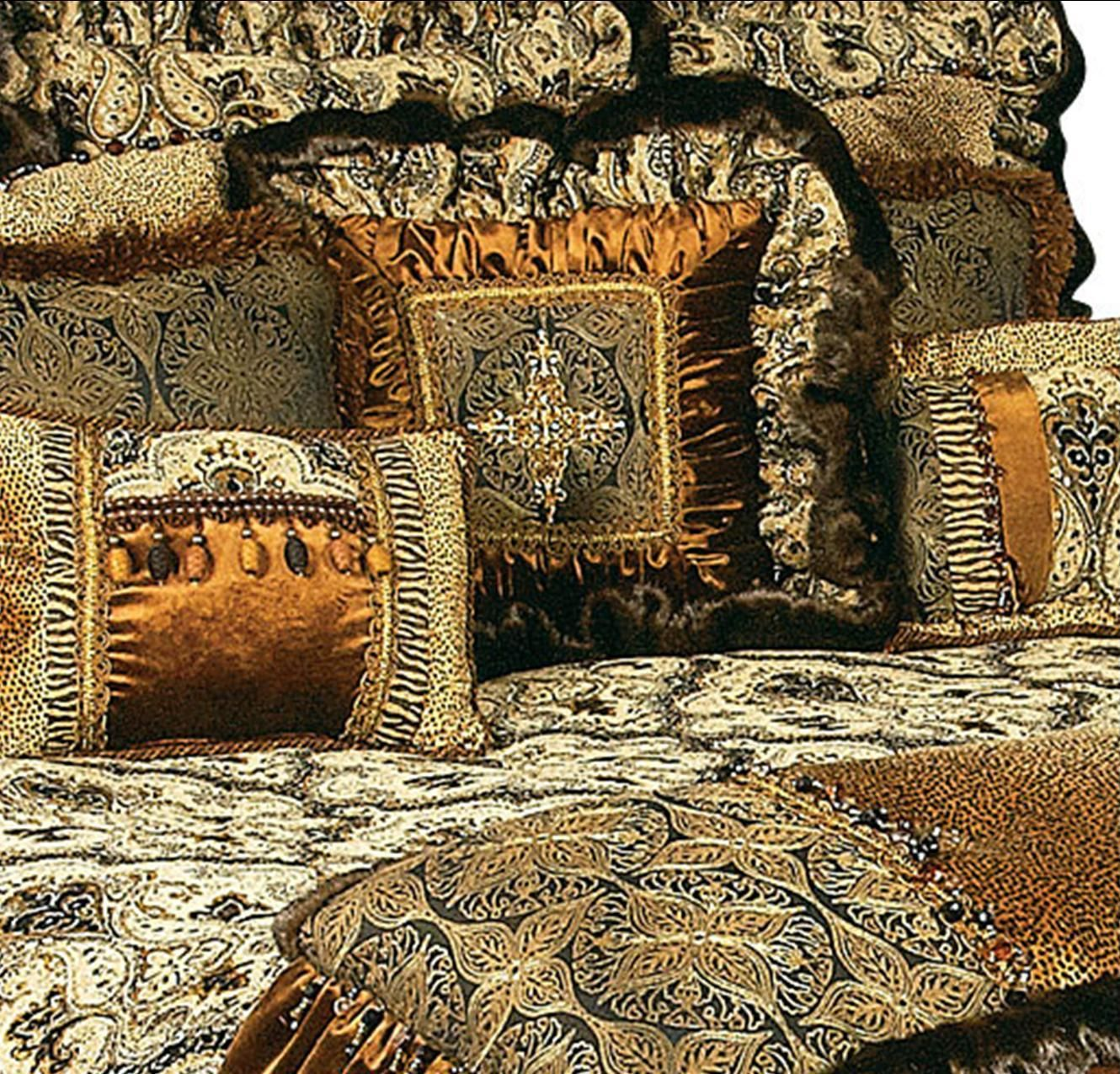 High End Luxury Tuscan Style Bedding and Accent Pillows by Reilly