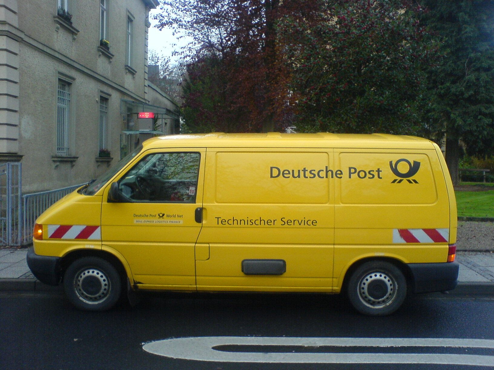 This is a van of a German company, Deutsche Post. They are
