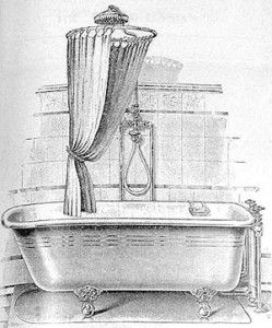 Round Clawfoot Tub Shower Rod Bathroom Pinterest Bathroom Tub