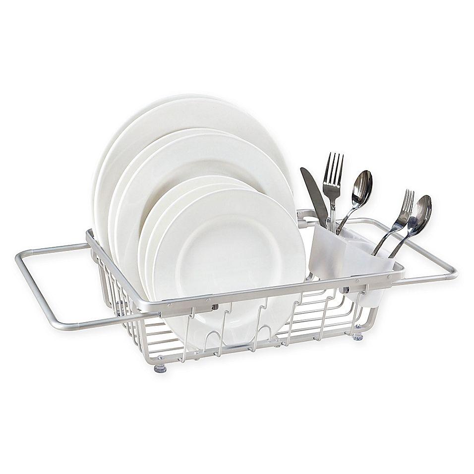 Org Aluminum Expandable Over The Sink Dish Rack Dish Racks Sink