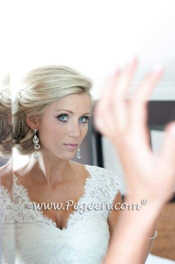 brides hair. Pegeen Wedding of the Year
