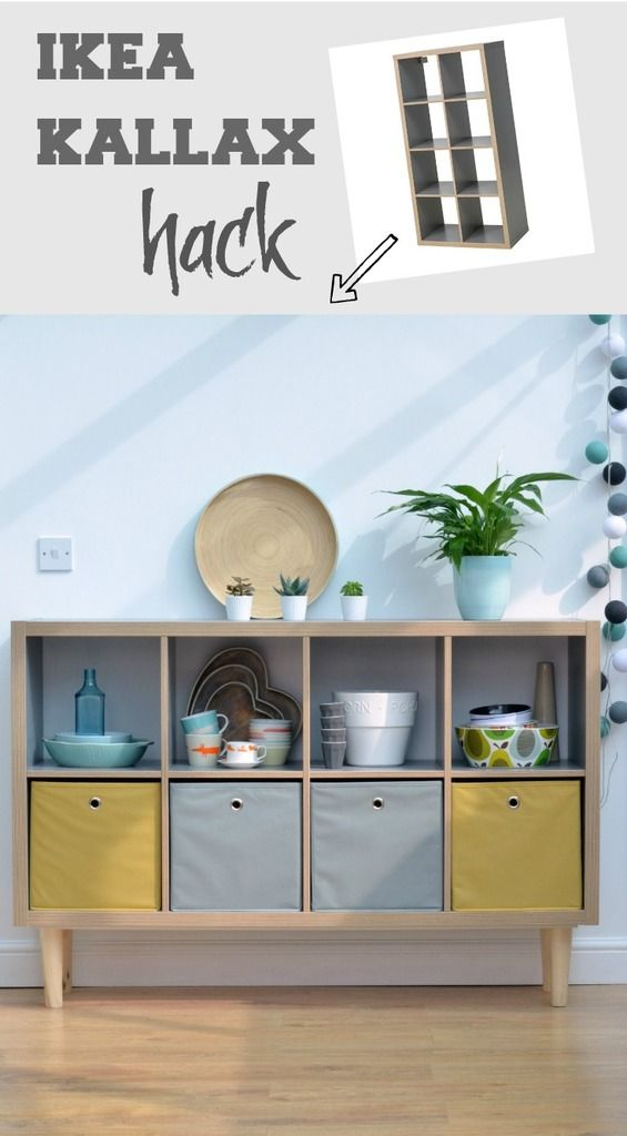 how to create a sideboard with tapered legs using ikea kallax ikea wohnzimmer m bel diy. Black Bedroom Furniture Sets. Home Design Ideas