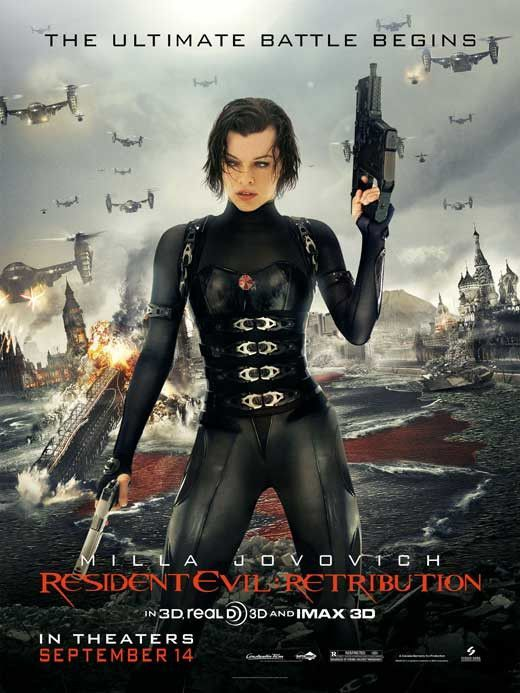 Resident Evil Retribution 27x40 Movie Poster 2012 In 2020 Resident Evil 5 Resident Evil Milla Jovovich