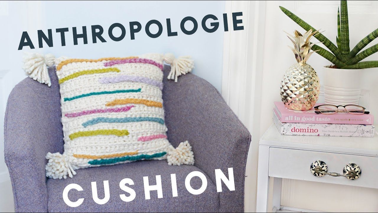 Anthropologie Inspired Crochet Braided Cushion How To Crochet A