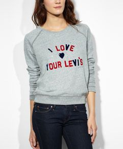 I Love Your Levi's® Sweatshirt - Smokestack Heather - Levi's - levi.com