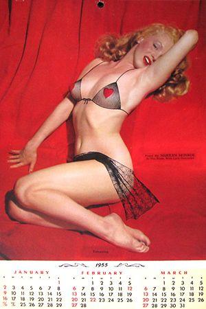 1955 Calendar January February March Marilyn Monroe