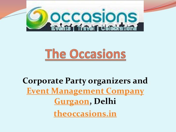 Visit Theoccasionsin A Leading Event Management Companies Arrange - Type-of-corporate-events