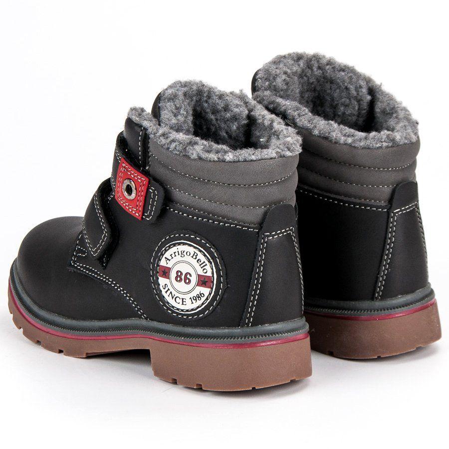 Kozaki Dla Dzieci Arrigobello Arrigo Bello Czarne Traperki Na Rzepy Boots Ugg Boots Baby Shoes