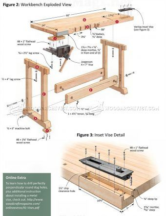 2385 Compact Workbench Plans Workshop Solutions Table Saw