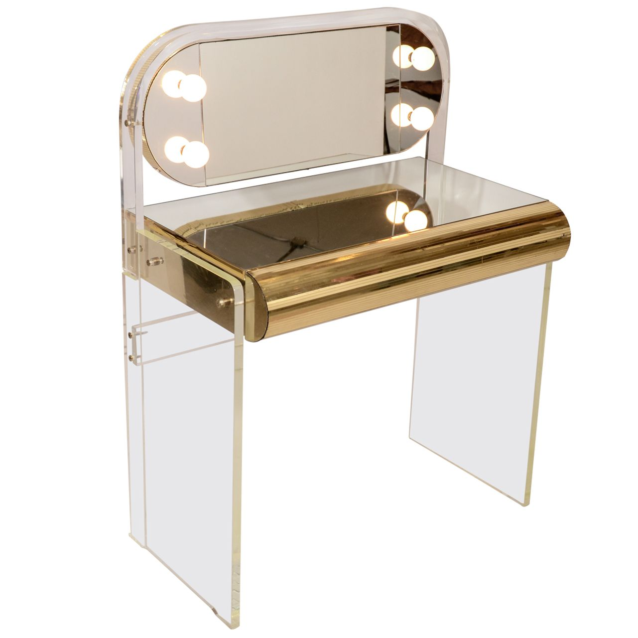 Lucite Vanity Table