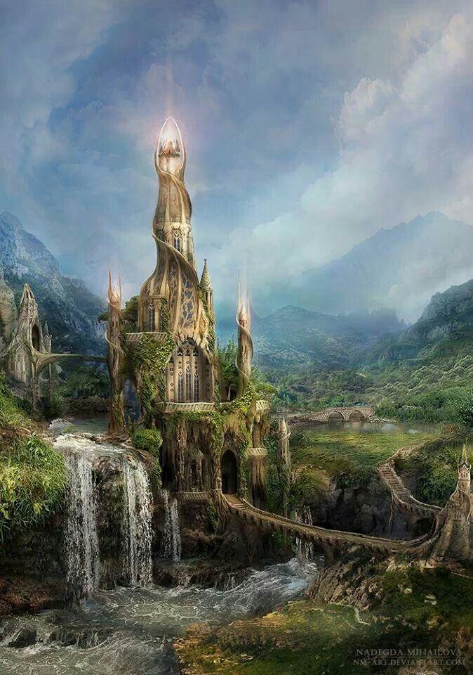 Mystical Castle A Luz indica o caminho a seguir. basta ...