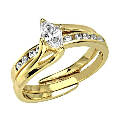 Gold Solitaire Cz Engagement Rings