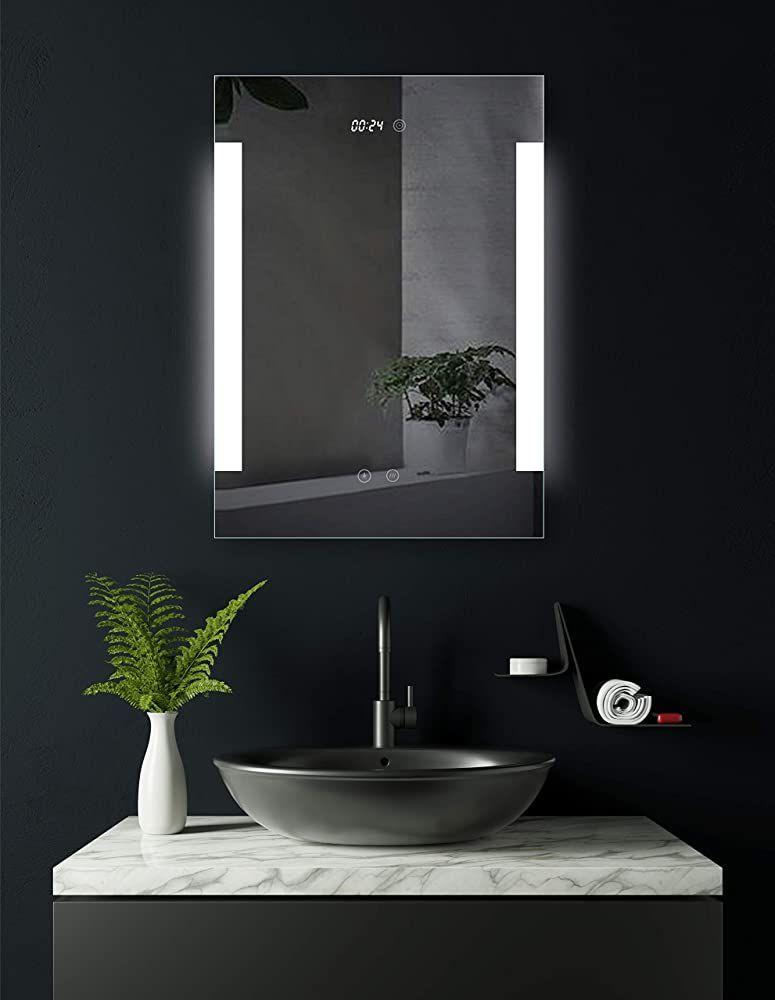 Hoko Badspiegel Led Beleuchtet Mit Integrierter Digital Uhr