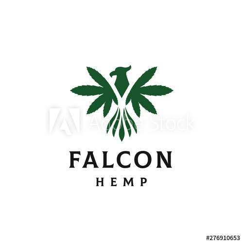 Falcon With Hemp Leaf As Wings Logo Design Buy This Stock Vector And Explore Similar Vectors At Adobe Stock Adobe Stock Wings Logo Hemp Leaf Logo Design