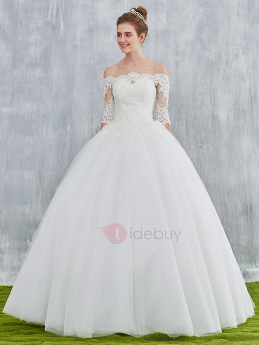 Adorewe tidebuy tidebuy ball gown half sleeves off the shoulder