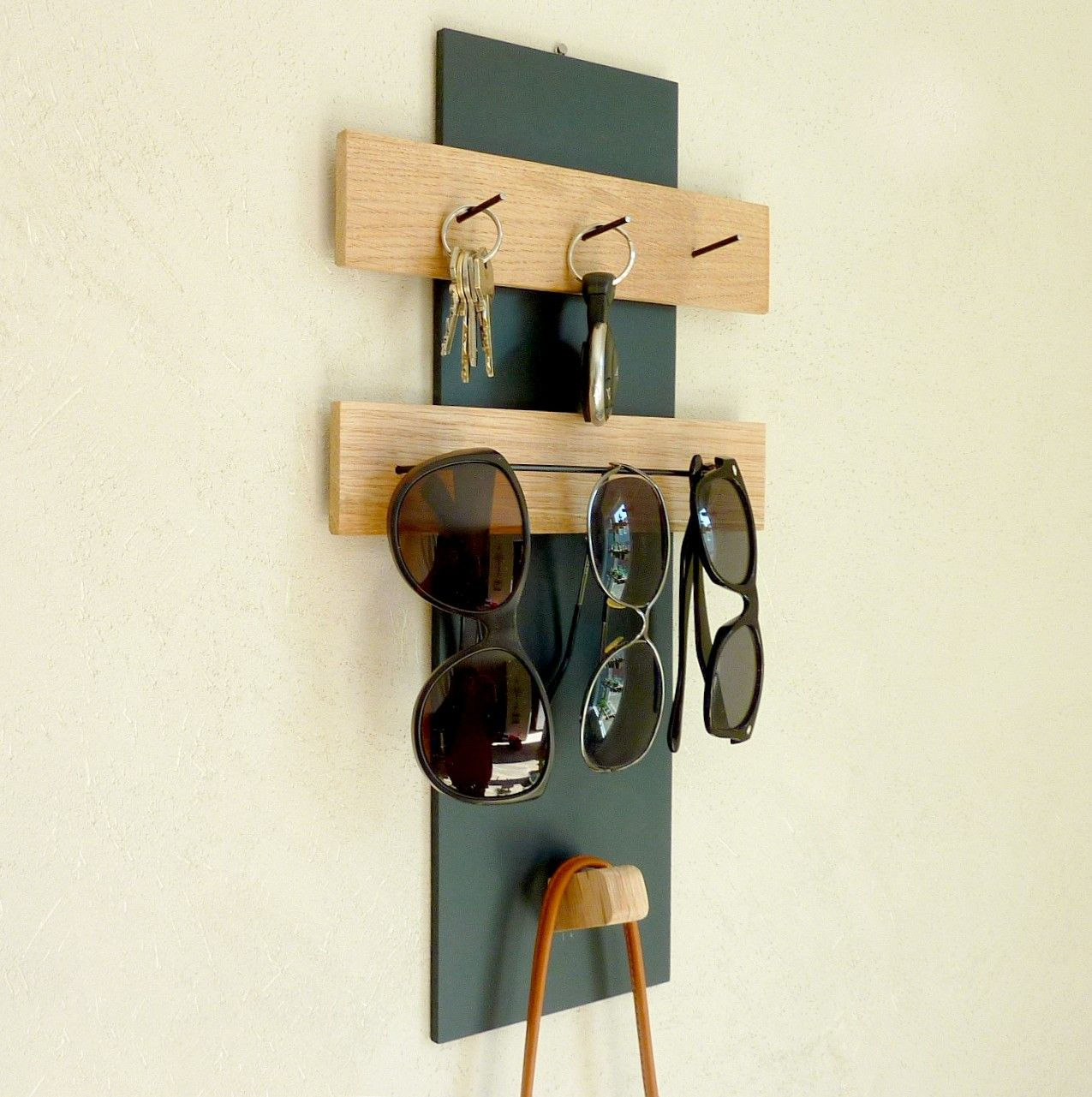 Organiseur D Entree Mural Support Cles Lunettes In 2021 Support Mural Home Decor Entry Organization
