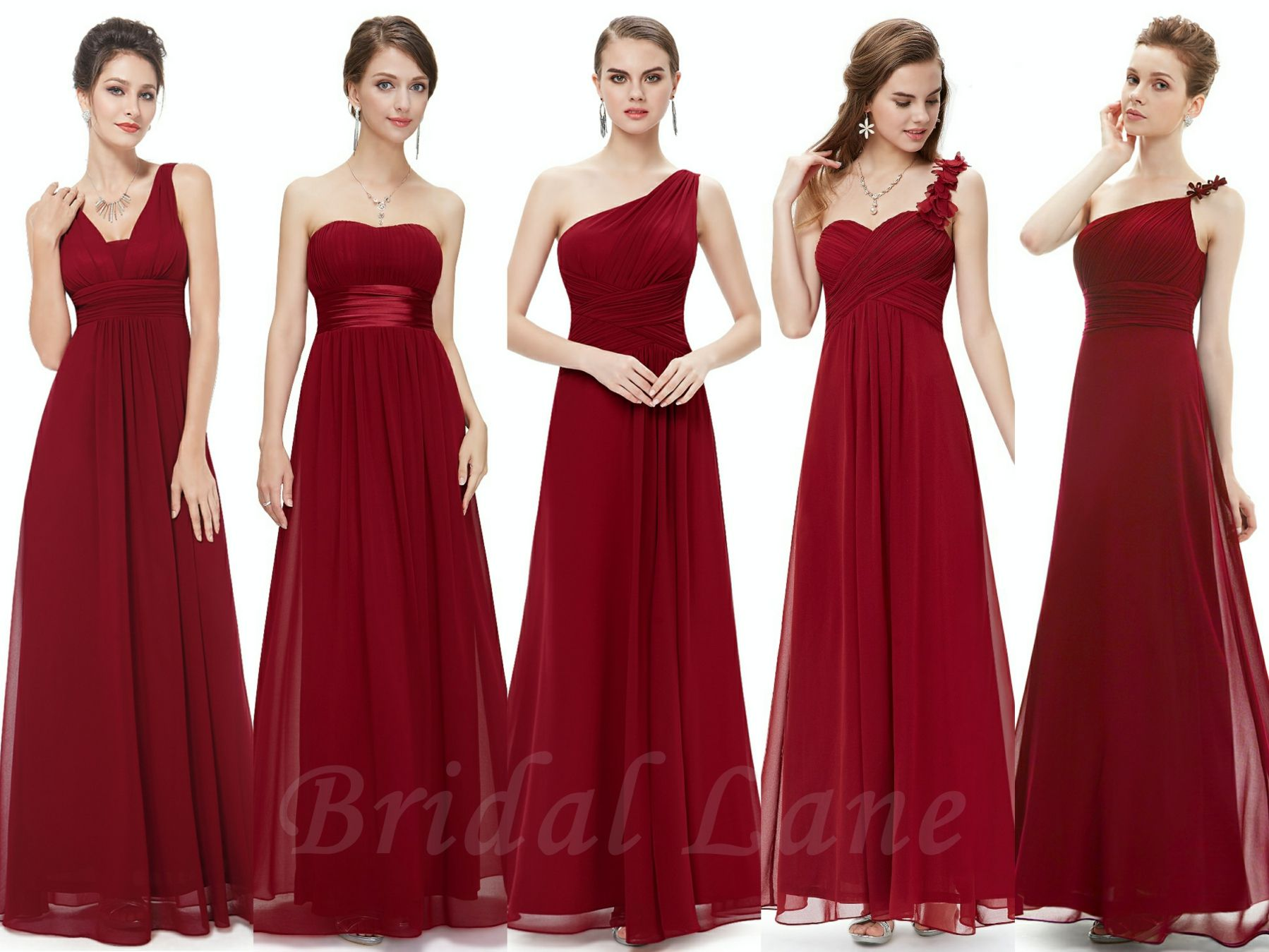 Burgundy / wine red bridesmaid dresses - Bridal Lane, Cape Town ...