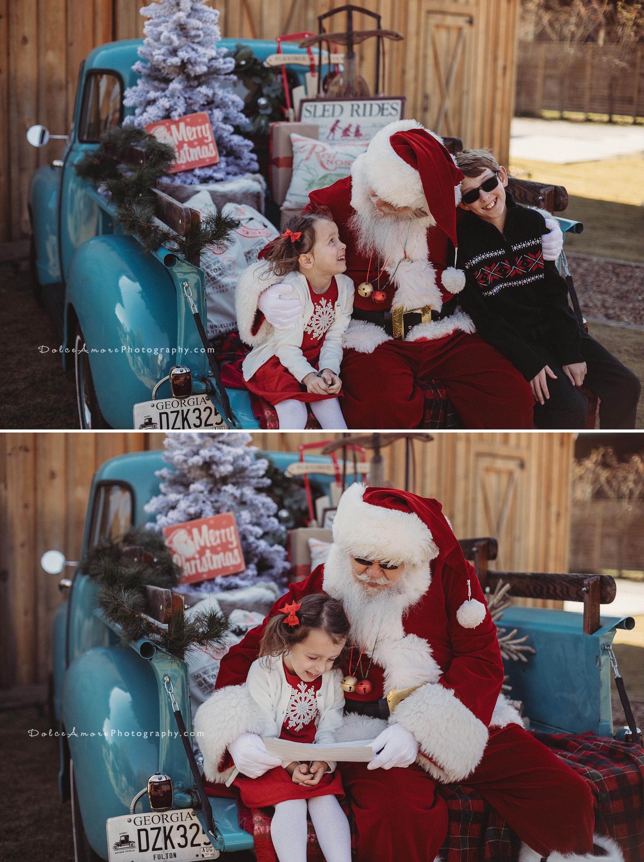 Christmas For Children In Marietta Ga 2020 Santa Minis | Alpharetta, GA | Dolce Amore Photography |Family
