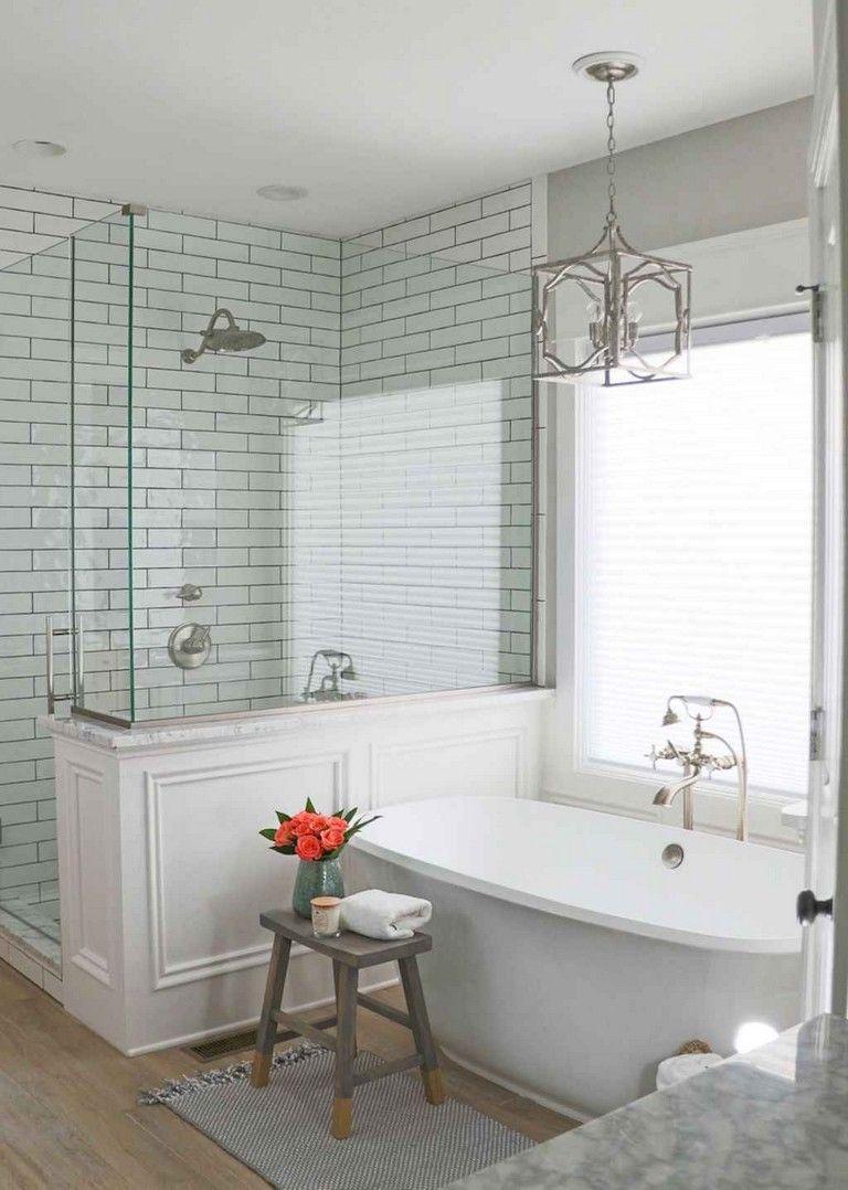 58 Elegant Bathroom Remodel Ideas Bathroomideas Bathroomremodel Bathroomdesign Small Bathroom Remodel Farmhouse Master Bathroom Small Master Bathroom