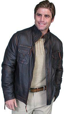 Men's Scully Lambskin Zip Front Jacket 118