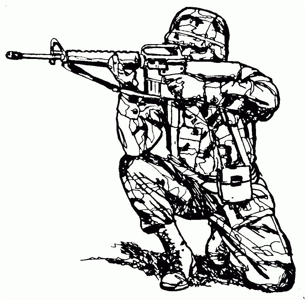 Dessin à Colorier Gratuit Militaire - Free To Print