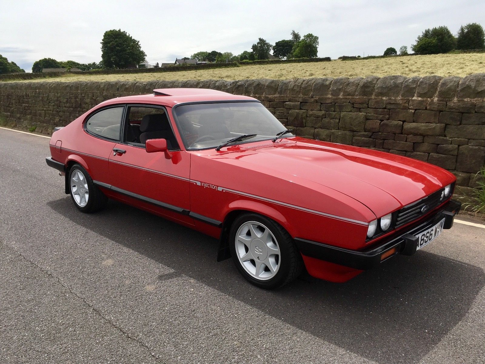 ebay ford capri 2 8 injection 1984 cardinal red 1980s cars cars ford capri ford classic. Black Bedroom Furniture Sets. Home Design Ideas