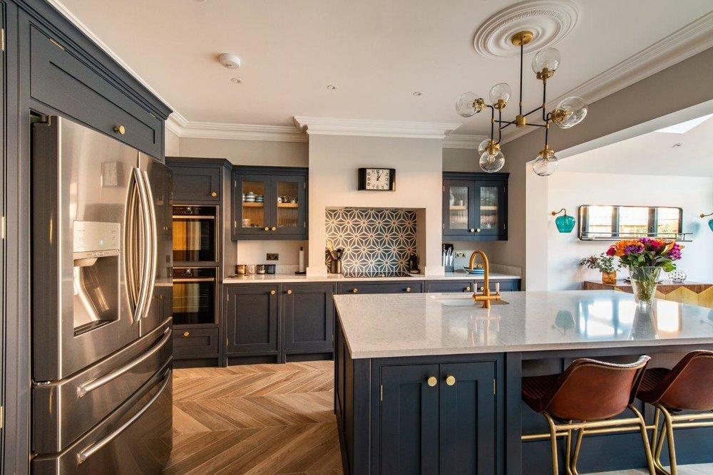 Surrey Kitchen — Herringbone Kitchens in 2020 Open plan