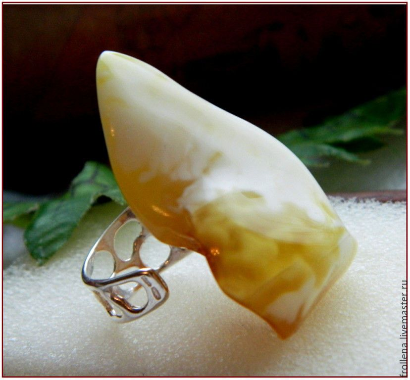 Amber Ring Iceberg Amber Silvering Kupit Na Yarmarke Masterov