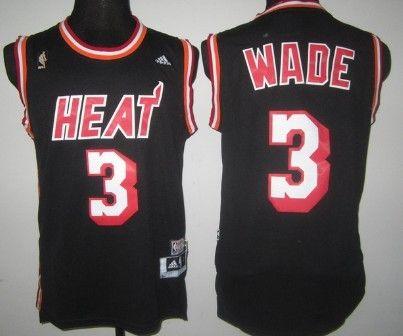 quality design 4b539 61c1c Miami Heat #3 Dwyane Wade ABA Hardwood Classics Swingman ...