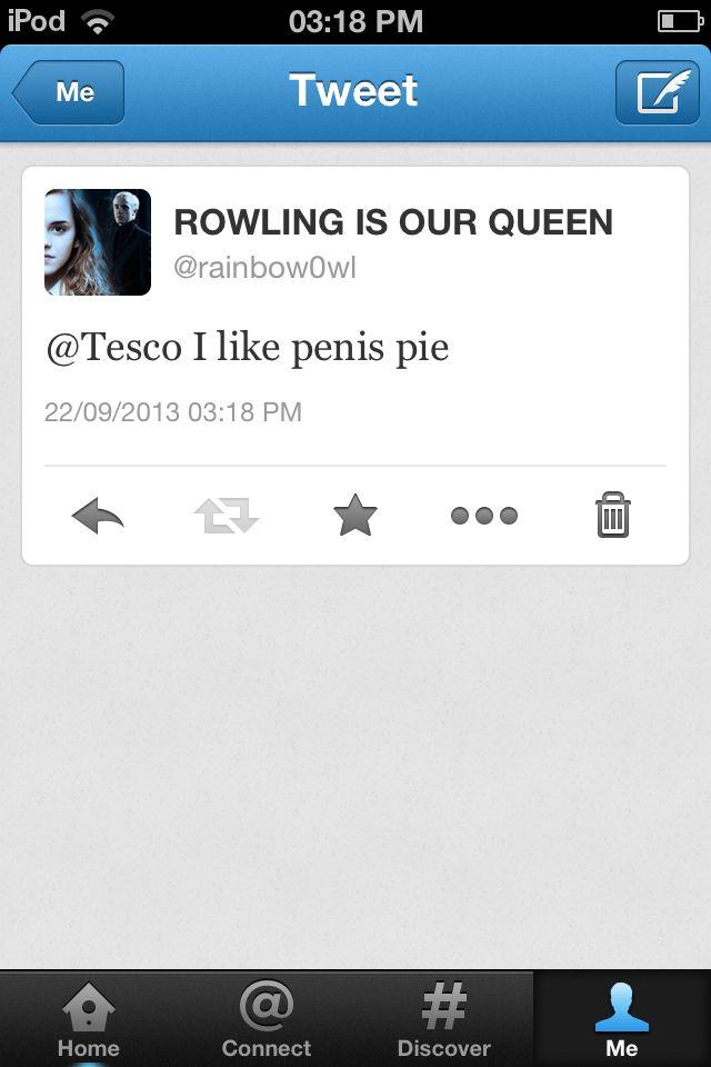 Alisha made me tweet Tesco.