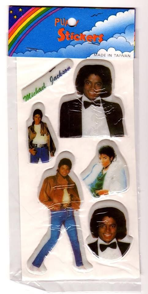 I Had Tons Of Michael Jackson Puffy Stickers In My Own