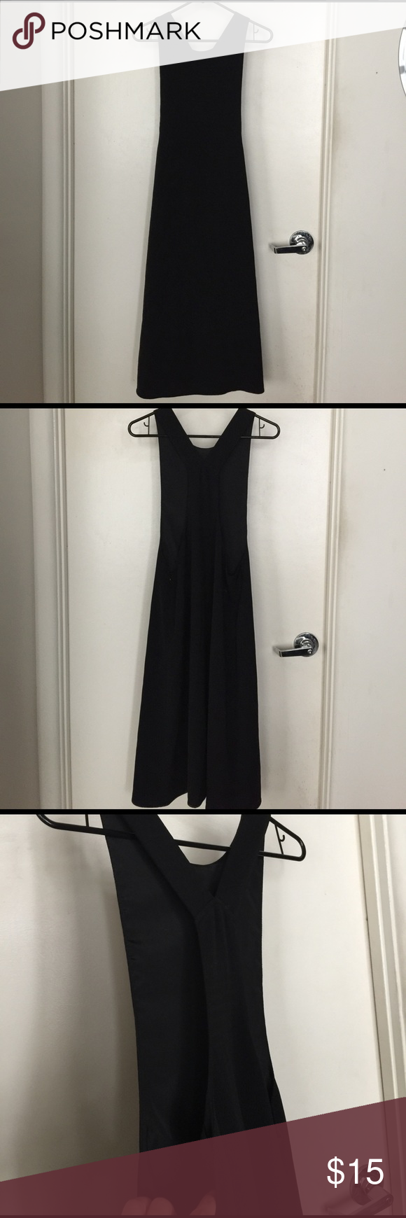 Open side black dress mid length overalls and st dresses