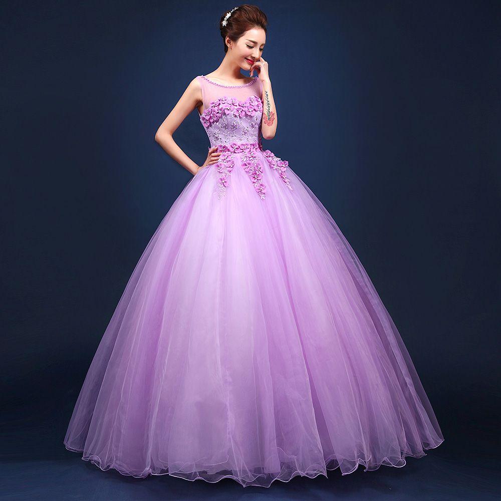 Light Purple Flower Beading Ball Gown Princess Medieval Dress Renaissance Gown Queen Victorian Gown Ball Dresses Light Purple Prom Dress Beautiful Prom Dresses [ 1000 x 1000 Pixel ]