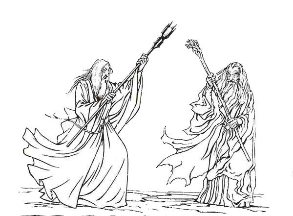 gandalf the gray coloring pages - photo#14