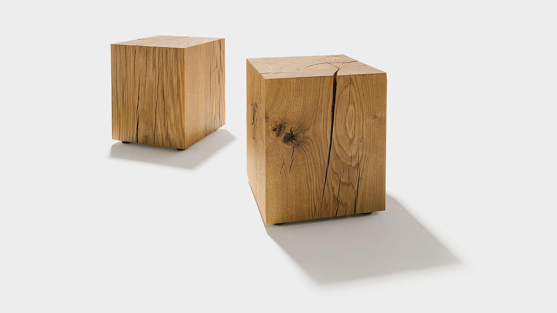 Die Eichenblcke Von TEAM 7 Aus Massivem Holz Vielseitig In Allen Wohnbereichen Einsetzbar Ob Als Couchtisch Nachtkstchen Oder Hocker