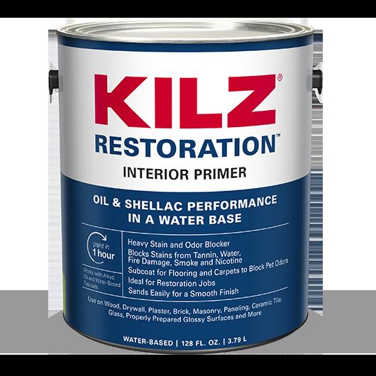 KILZ RESTORATION™ InteriorPrimer | KILZ® | Kilz, Primer ...