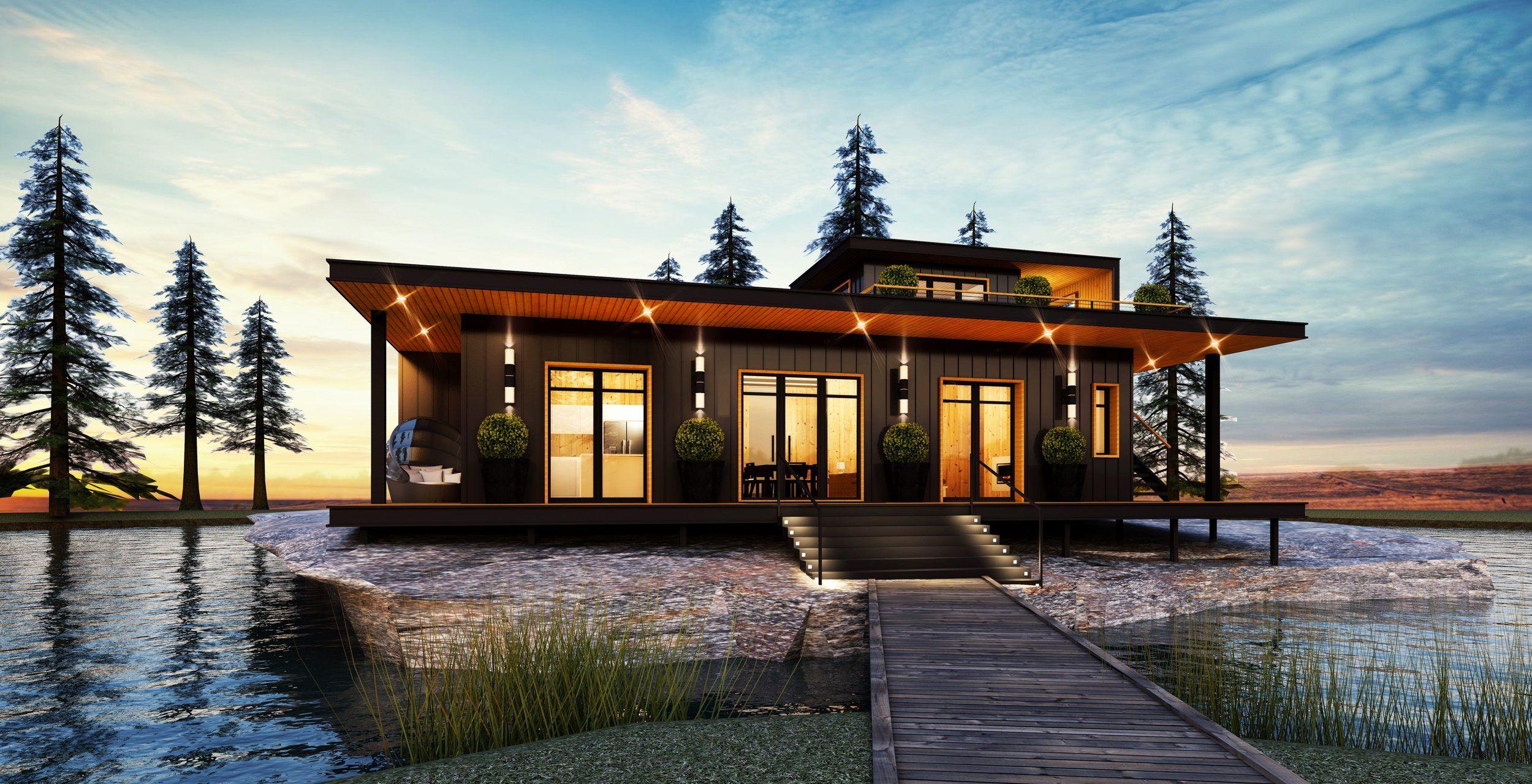 Honey Harbour Revised Design Loft Option View 1 Jpg Custom Modular Homes Modular Homes Modular Home Plans