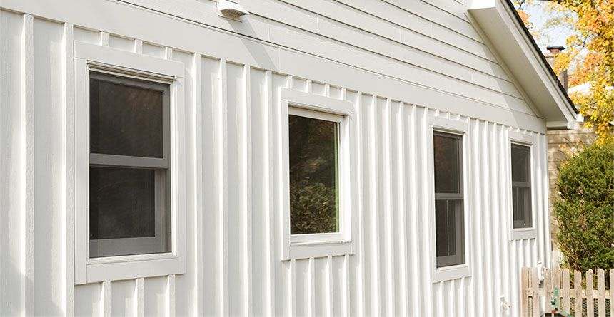 Hardiepanel Vertical Siding Provides Value And Long Lasting Performance As With All Of Our Ext Wood Siding Exterior Board And Batten Exterior Vertical Siding